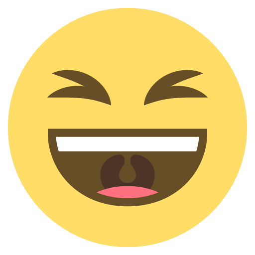 Smiling Face with Open Mouth and Tightly-closed Eyes
