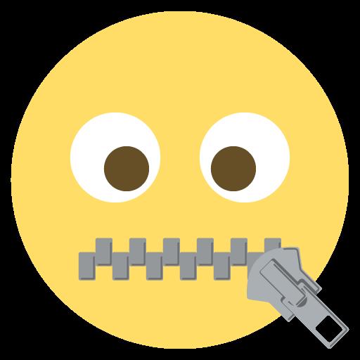 Zipper-mouth Face