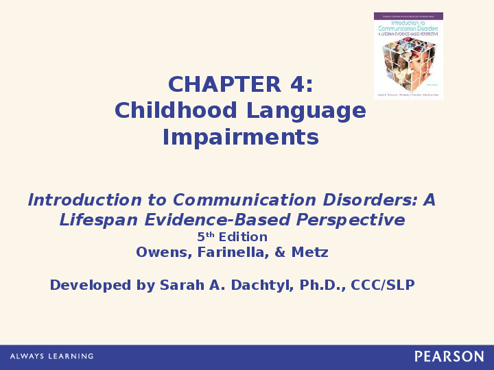 speech impairment affecting literacy development This section provides an overview of child speech and language  specific language impairment (sli) child speech, language and literacy development.