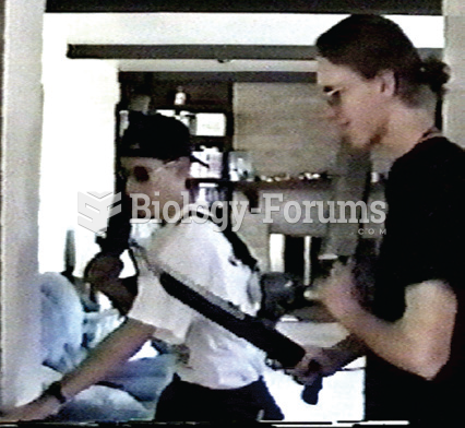 This frame from a home video shows Eric Harris (on the left) and Dylan Klebold (on the right) as ...