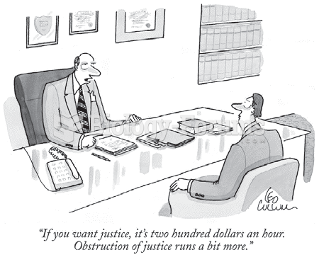 The cartoonist's hyperbole makes an excellent commentary on the social class disparity of our ...