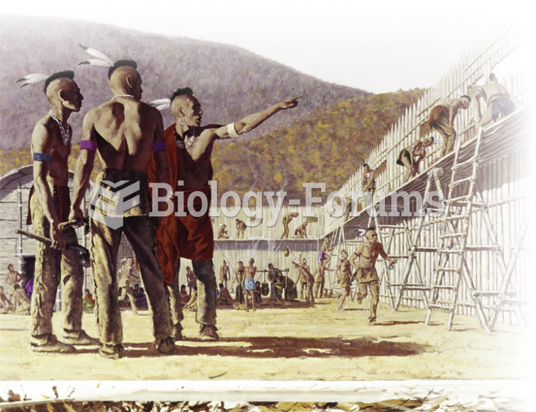 This depiction breaks stereotypes, but is historically accurate. Shown here is an Iroquois fort. Can ...