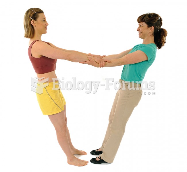 """""""To begin the pull-back exercise, grasp wrists, then lean back and balance."""""""