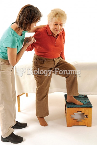 Use a step stool to help an infirm client get on and off the table.