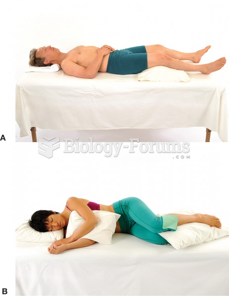a) Using a soft pillow rather than a hard bolster under the knees will reduce pressure on the back ...