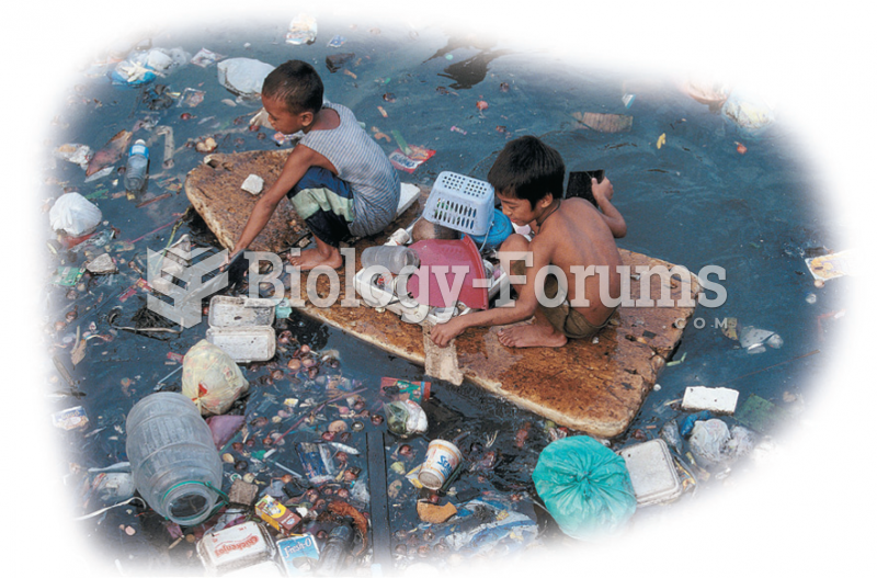 Pollution in the Least Industrialized Nations has become a major problem. These children in the ...