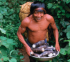 A member of the Uru-Eu-Wau-Wau tribe in Brazil. The way of life of the world's few remaining rain ...