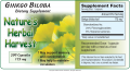 Ginkgo Biloba label. The label indicates the product is standardized to percentages of the two ...