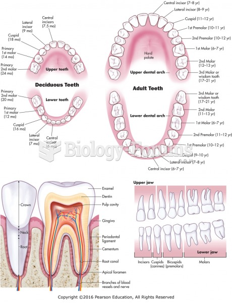 Types, location, and structures of teeth.