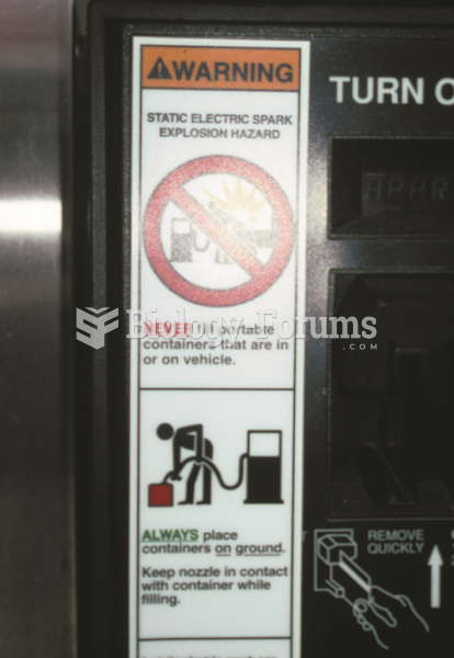 Many gasoline service stations have  signs posted warning customers to place plastic fuel containers ...