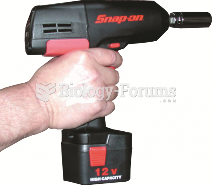 A typical battery-powered 3/8 inch  drive impact wrench.