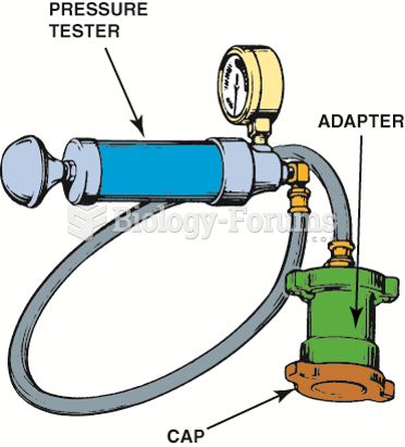 The pressure cap should be checked for proper operation using a pressure tester as part of the ...