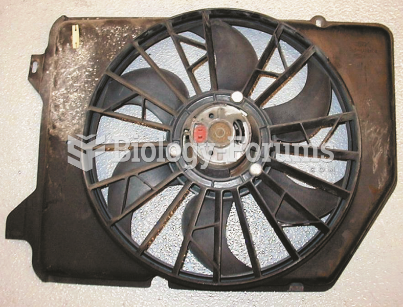 A typical electric cooling fan assembly after being removed from the vehicle.