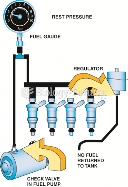 The fuel system should hold pressure  if the system is leak free.