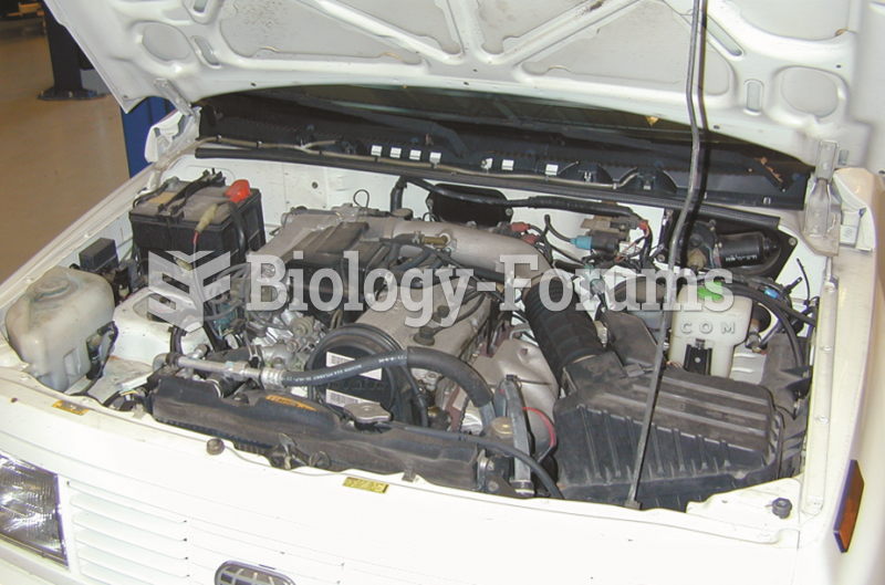 An overall view of the four-cylinder engine that is due  for a scheduled valve adjustment according ...