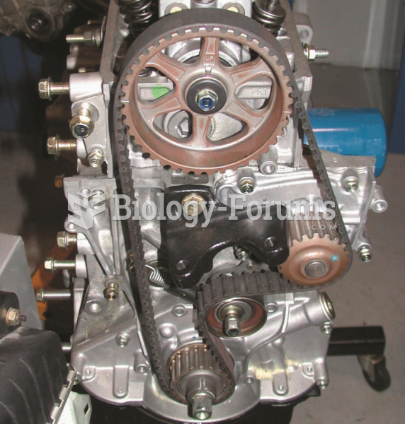 A single overhead camshaft engine with  a timing belt that also rotates the water pump.