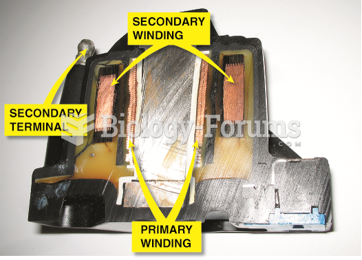 The primary windings are inside the secondary windings on this General Motors coil.