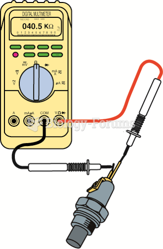 Measuring the resistance of the ECT sensor. The resistance measurement can then be compared with ...