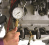 A compression gauge designed for the higher compression rate of a diesel engine should be  used when ...