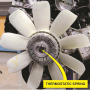 A typical engine-driven cooling fan.