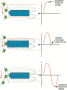 A magnetic sensor uses a permanent magnet surrounded by a coil of wire. The notches of the ...