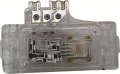 A plastic MAP sensor used for training purposes showing the electronic circuit board and electrical ...