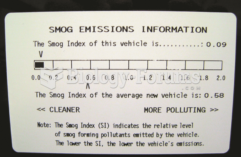 This label on a Toyota Camry hybrid shows the relative smog-producing emissions, but this does not ...