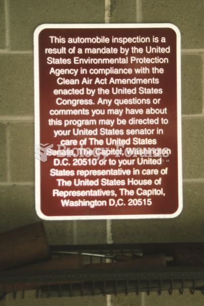 Photo of a sign taken at an emissions  test facility.