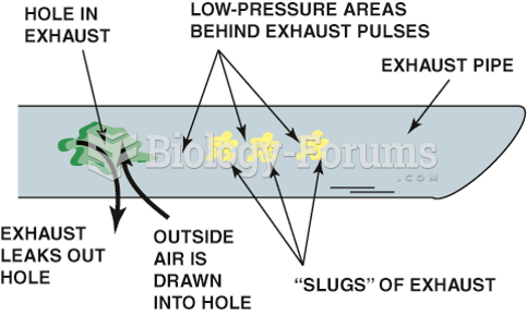 A hole in the exhaust system can cause outside air (containing oxygen) to be drawn into the exhaust ...