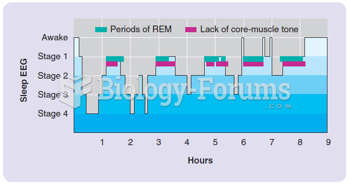 The course of EEG stages during a typical night's sleep and the relation of emergent stage 1 EEG ...