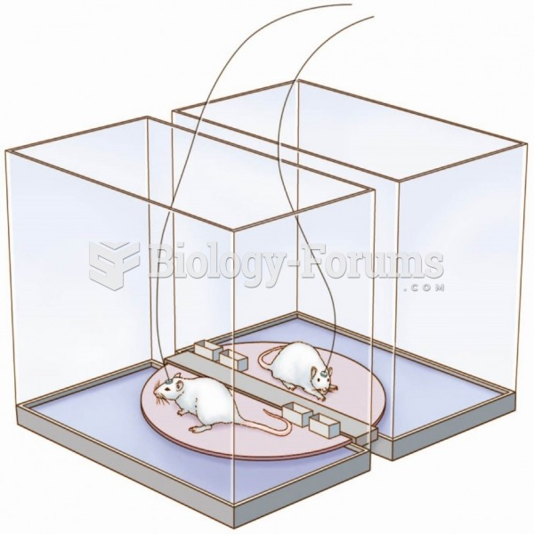 The carousel apparatus used to deprive an experimental rat of sleep while a yoked control rat is ...