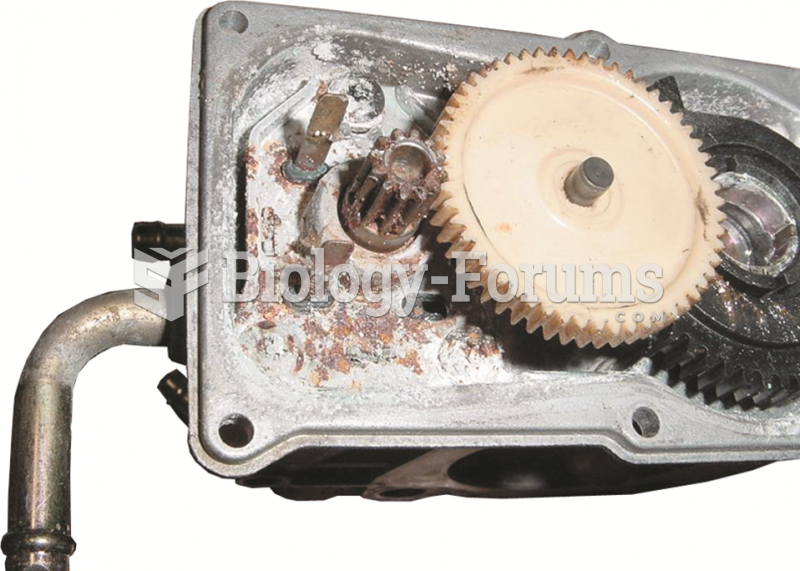 A corroded electronic throttle control assembly shown with the cover removed.