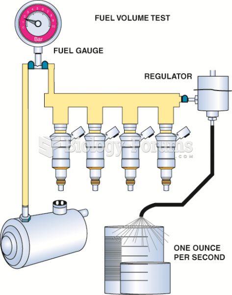 Checking fuel-pump volume using  a hose from the outlet of the fuel-pressure regulator  into a ...
