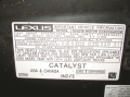 The underhood decal showing that this Lexus RX-330 meets both national (Tier 2; BIN 5) and ...