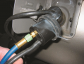 This unit is applying smoke to the fuel tank through an adapter and the leak was easily found  to be ...