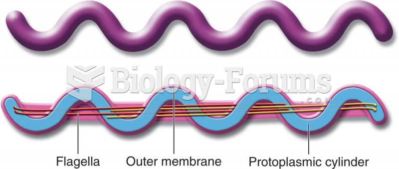 Drawing of spirochete's mobility system (with internal flagellae).