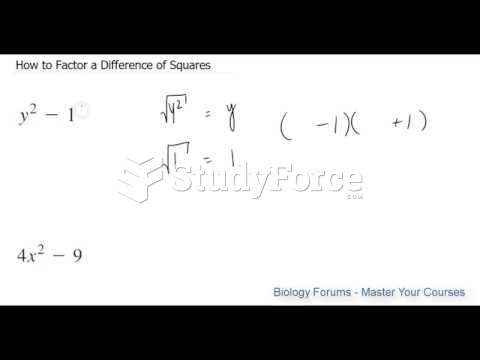 How to Factor a Difference of Squares