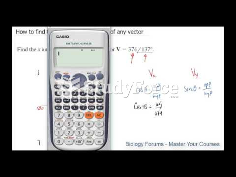 How to find the X and Y components of any vector
