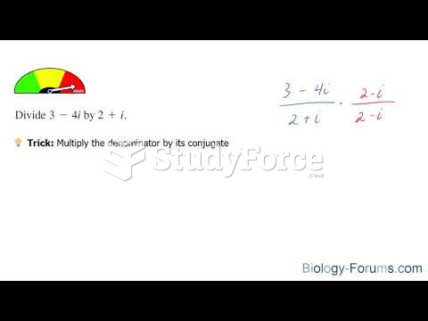 How to divide imaginary terms and complex numbers
