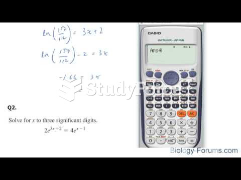 How to solve exponential equations with base e