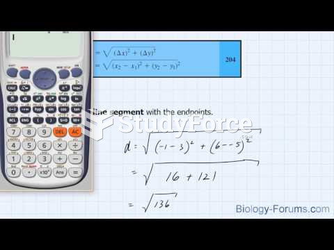 How to find the distance of any line segment