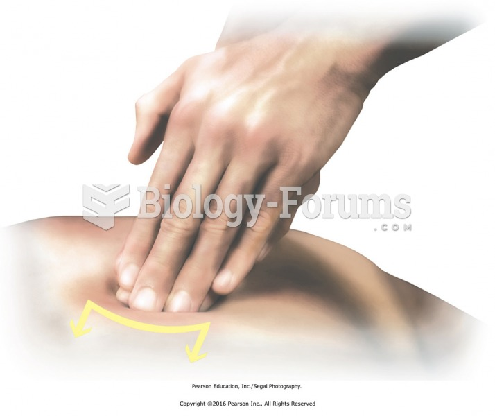 Using the fingertips of one hand, make contact with an area on the back with high fascial ...