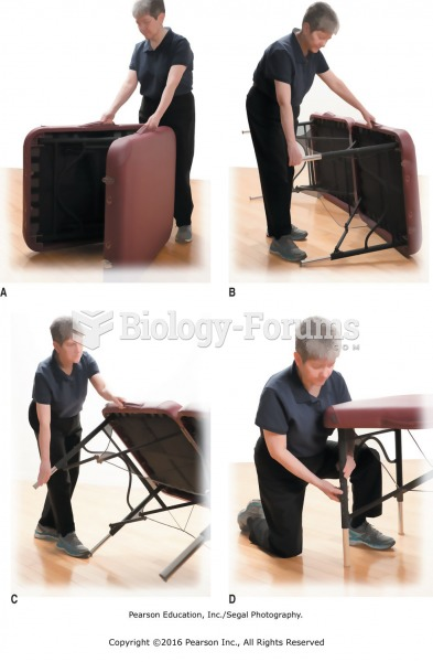 A. Open portable massage table on its side. B. Straighten out legs completely and check that leg ...