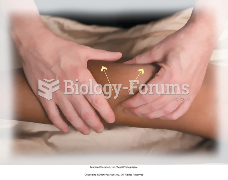 Basic two-handed kneading. Tissues are lifted with the whole hand in firm contact.