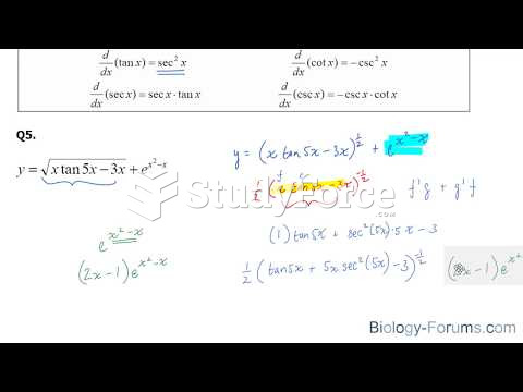 How to find the derivatives of trigonometric functions using the chain rule (Part 1)