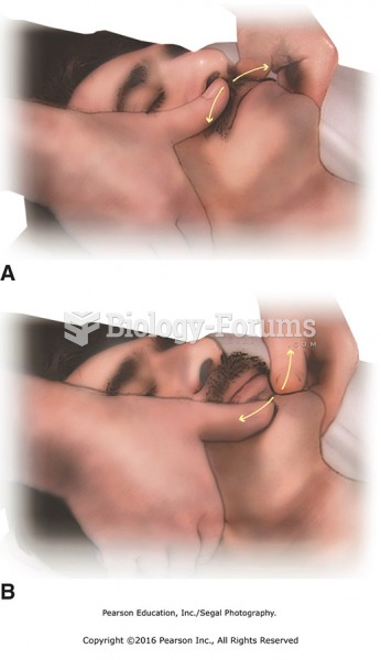 (A) Thumb slides above upper lip; to begin, fingers are placed near the ears, and thumbs begin at ...