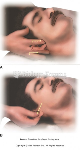 (A) Massage the ears between thumb and fingers. (B) Gently pull on ears.