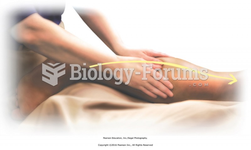 Basic sliding effleurage to the lower leg. Apply from heel of foot to knee. Conform hands to contour ...