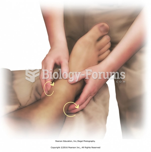 Circular friction around the ankle with the fingertips. Applying pressure with the fingertips, move ...