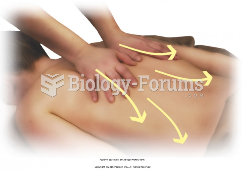 Finish with bilateral stroking to the entire back. Stand at head of the table with fingers pointing ...
